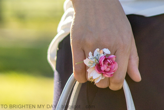 Etsy MagaelaAccessories flower ring