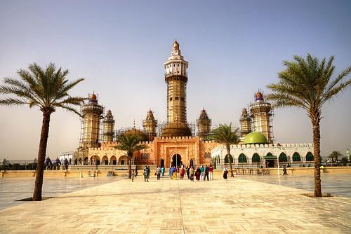 mariusz kluzniak western africa senegal touba mosque architecture palms sunny clear