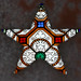 Stained glass star by Monceau