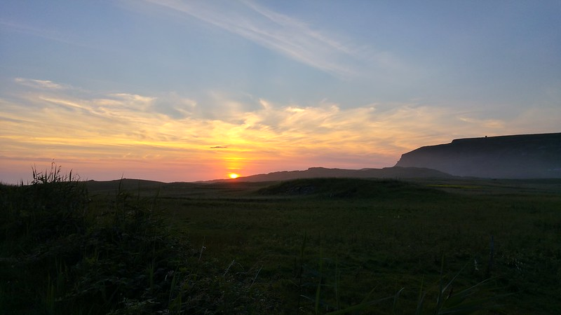 Sunset in Gleann Cholm Cille