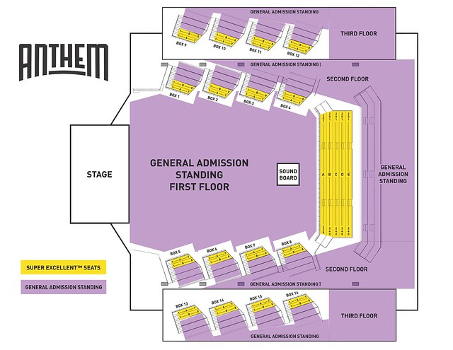 Around Town Super Excellent Seats The Anthem 112818 Parklife Dc. Seating Chart Of The Anthem In Dc At 6000person Capacity Art Courtesy Imp. Lincoln. Lincoln Theatre Seating Diagram At Scoala.co