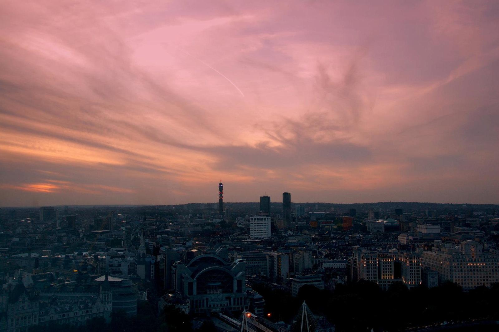London-eye-sunset