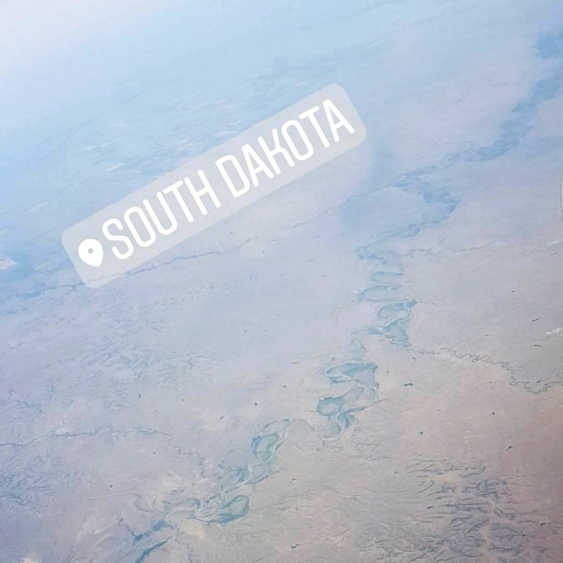 South Dakota view from the plane