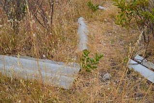 Asbestos fencing, dumped