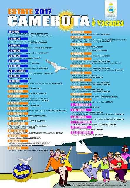 Manifesto Camerota è Vacanza (FB)