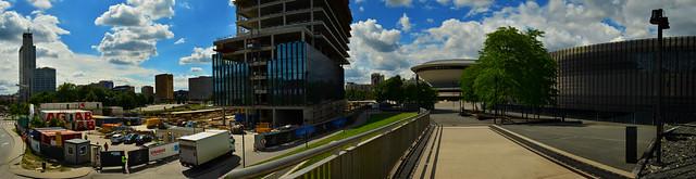 Katowice - Spodek (The Saucer) panorama