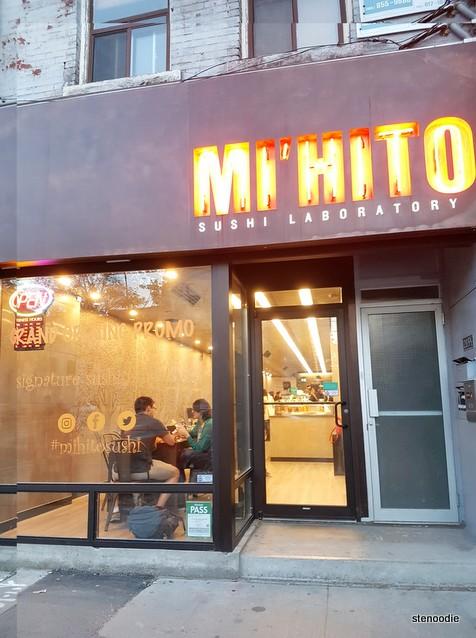 Mi'hito Sushi Laboratory interior storefront
