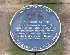 Photo of George Stephenson and Robert Stephenson blue plaque
