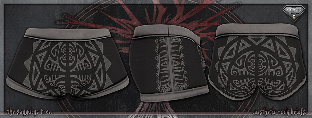 [ new release – aesthetic rock boxers – black ] - SecondLifeHub.com