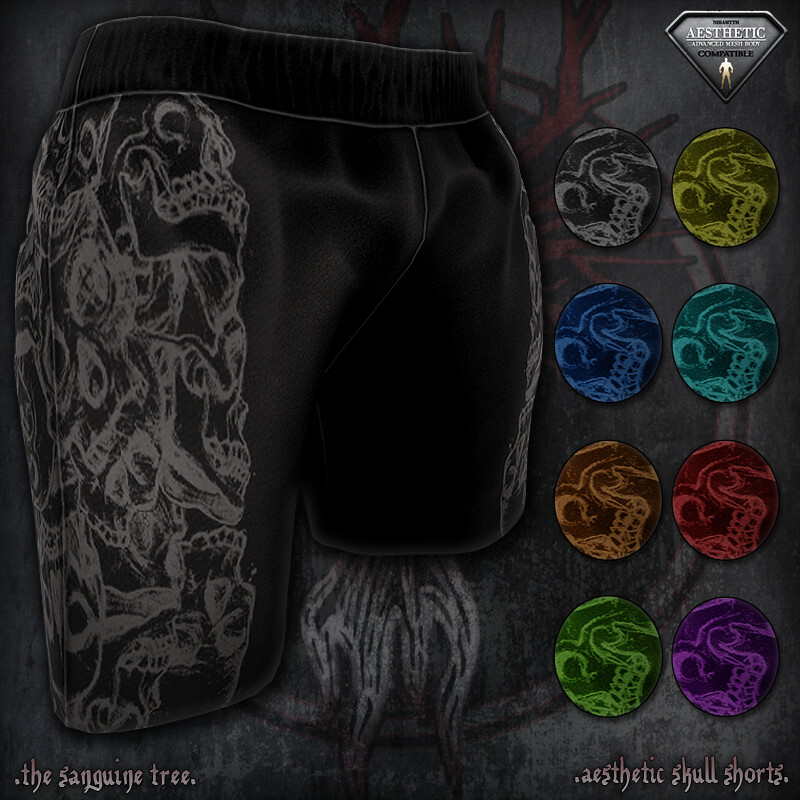[ new release – aesthetic skull shorts ] - SecondLifeHub.com