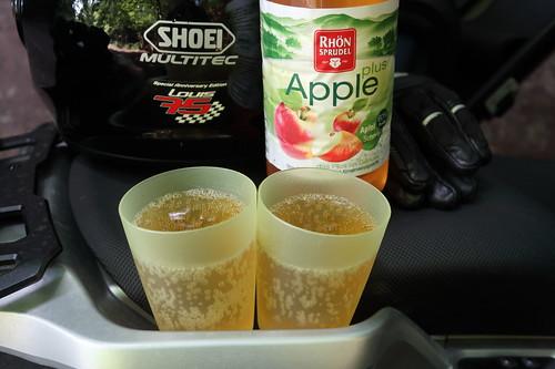 RhönSprudel Apple Plus (nach dem Spaziergang durch die Kaskadenschlucht bei Gersfeld)