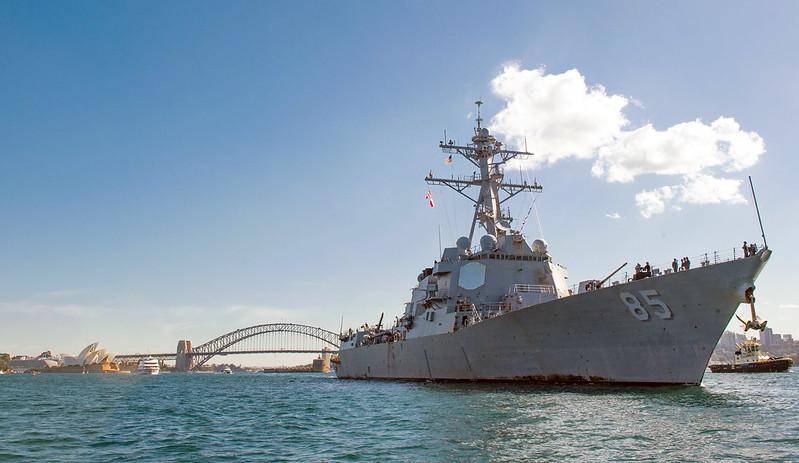USS McCampbell (DDG 85) departs Sydney, Australia.