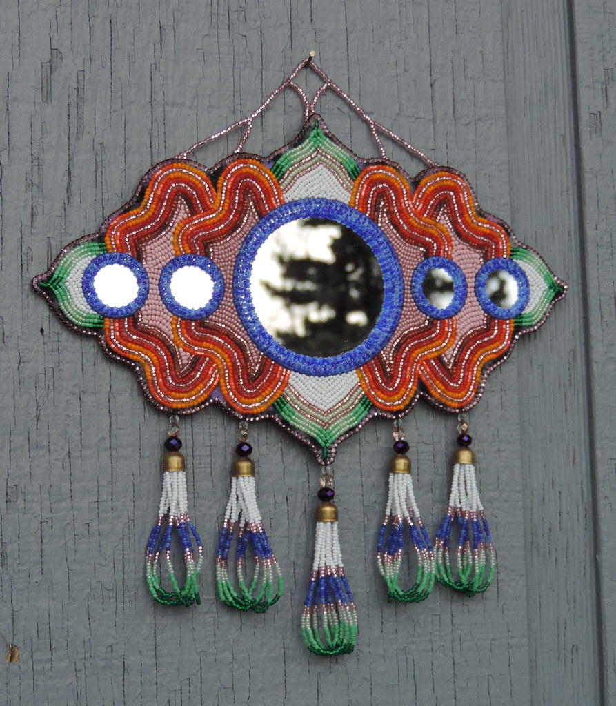 OOAK - Himalayan Bloom Wall Mirror