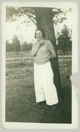 Woman by a tree