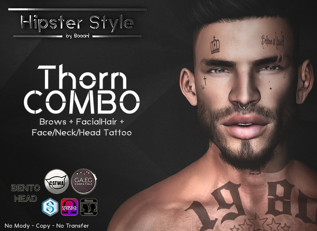 [Hipster Style] Thorn COMBO - SecondLifeHub.com