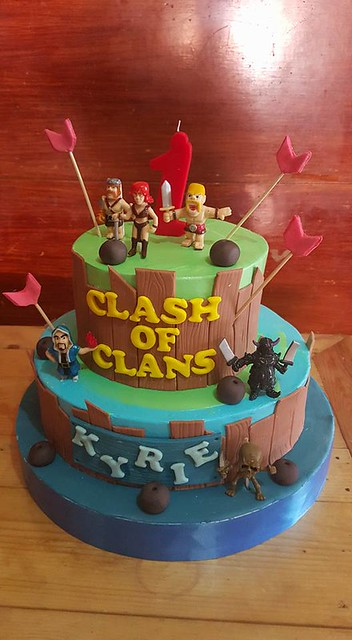 Clash of Clans Themed Cake by Gellan Sweets cakes, balloon decoration & mascots