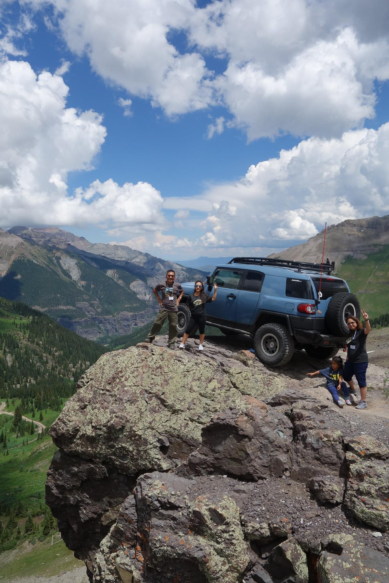 It's an adventure for my family joining the FJ Summit XI. It was our first  Summit and first long drive from California to Ouray, Colorado.