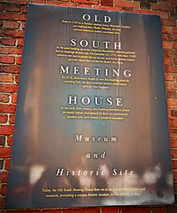 Old South Meeting House Sign
