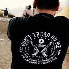 Customer Photo: Don't Tread on Me: The Second Amendment: An American Tradition. T-Shirt.