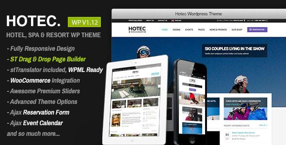 Hotec v2.5 – Responsive Hotel, Spa & Resort WP Theme