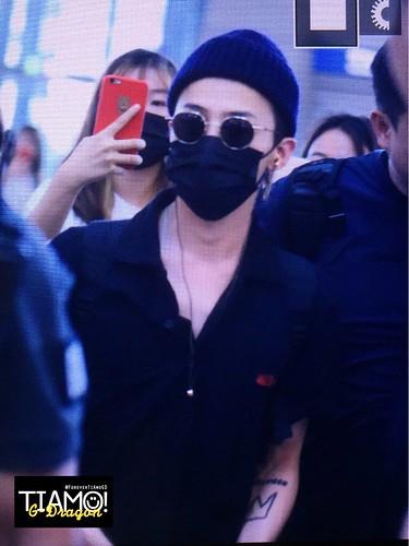 G-Dragon departure Seoul ICN to Sydney Australia 2017-08-03