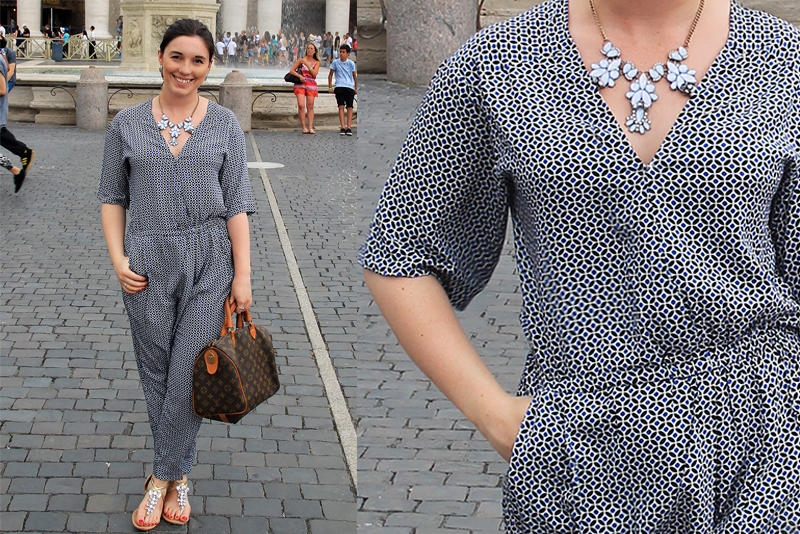Vatican City jumpsuit fashion cover up travel blogger UK
