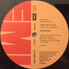 GONZALEZ:HAVEN'T STOPPED DANCEING YET(LABEL SIDE-B)