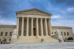 US Supreme Court Building in evening - Washington DC