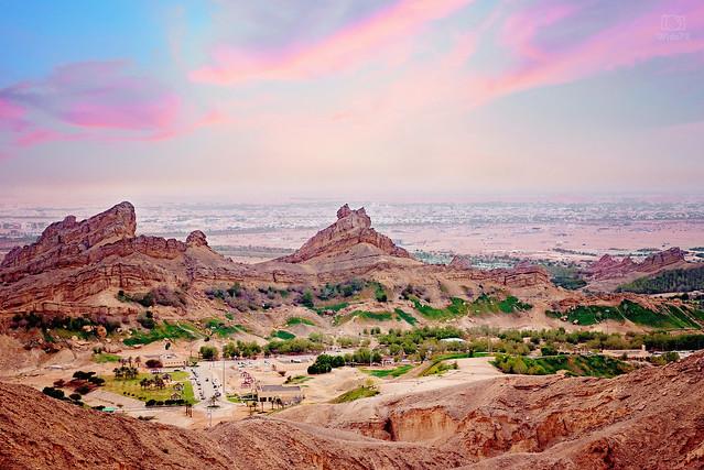 Green Mubazarah view from Jable hafeeth - Al ain, UAE