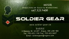 Soldier Gear, Angus, ON