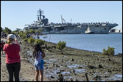 USS Ronald Reagan Brisbane River 23 July 2