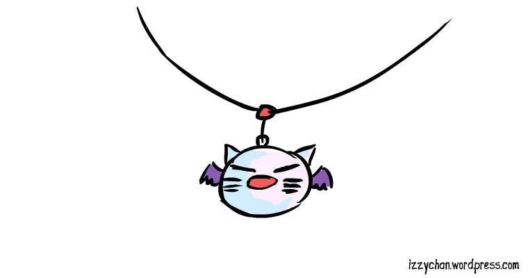 moogle face jewelry necklace