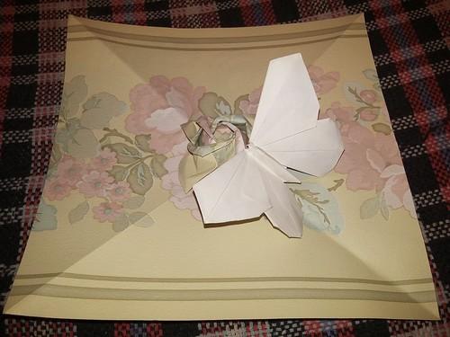 ECOGAMI - Rosa Kawasaki e borboleta LaFosse - dobras papel de parede
