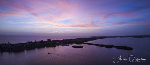 dji florida mavic sarasota sarasotabay aerialimage aerialphotography sunset siestakey