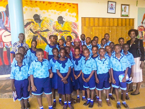 The Primary Six pupils of St Louis Nursery and Primary School, Bida, on a visit to the