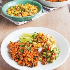 Mexican Rice & Corn Mango Salsa (Source) VeganFoodPorn.pictures/ | Vegan Cookbooks On Sale! Like Us On Facebook | Follow Us On Twitter