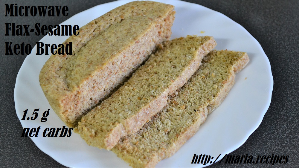 Flax Bread, revisited | Maria Recipes — Keto Enthusiast, Indian Food
