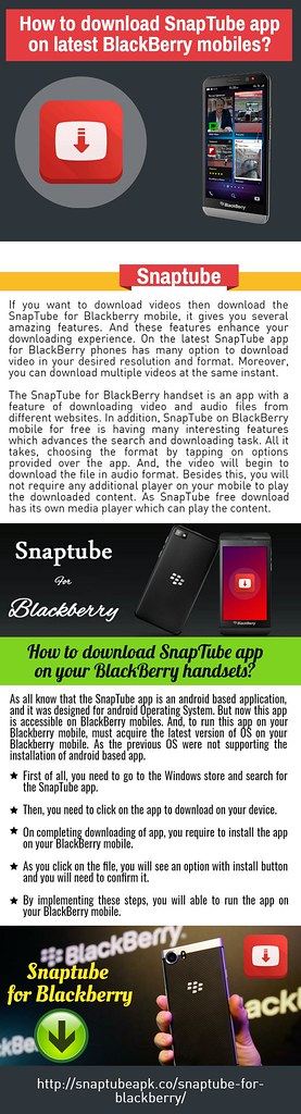 How to download SnapTube app on latest BlackBerry mobiles | Flickr