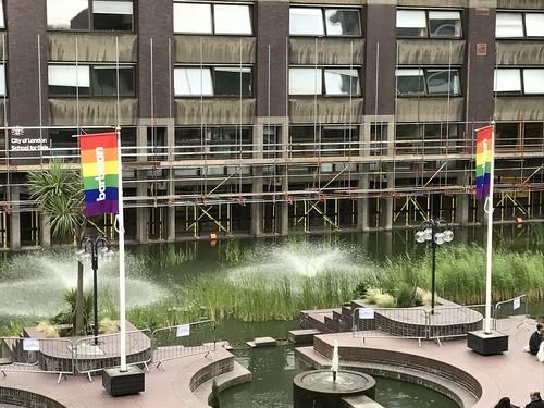 Pride Flags at Barbican