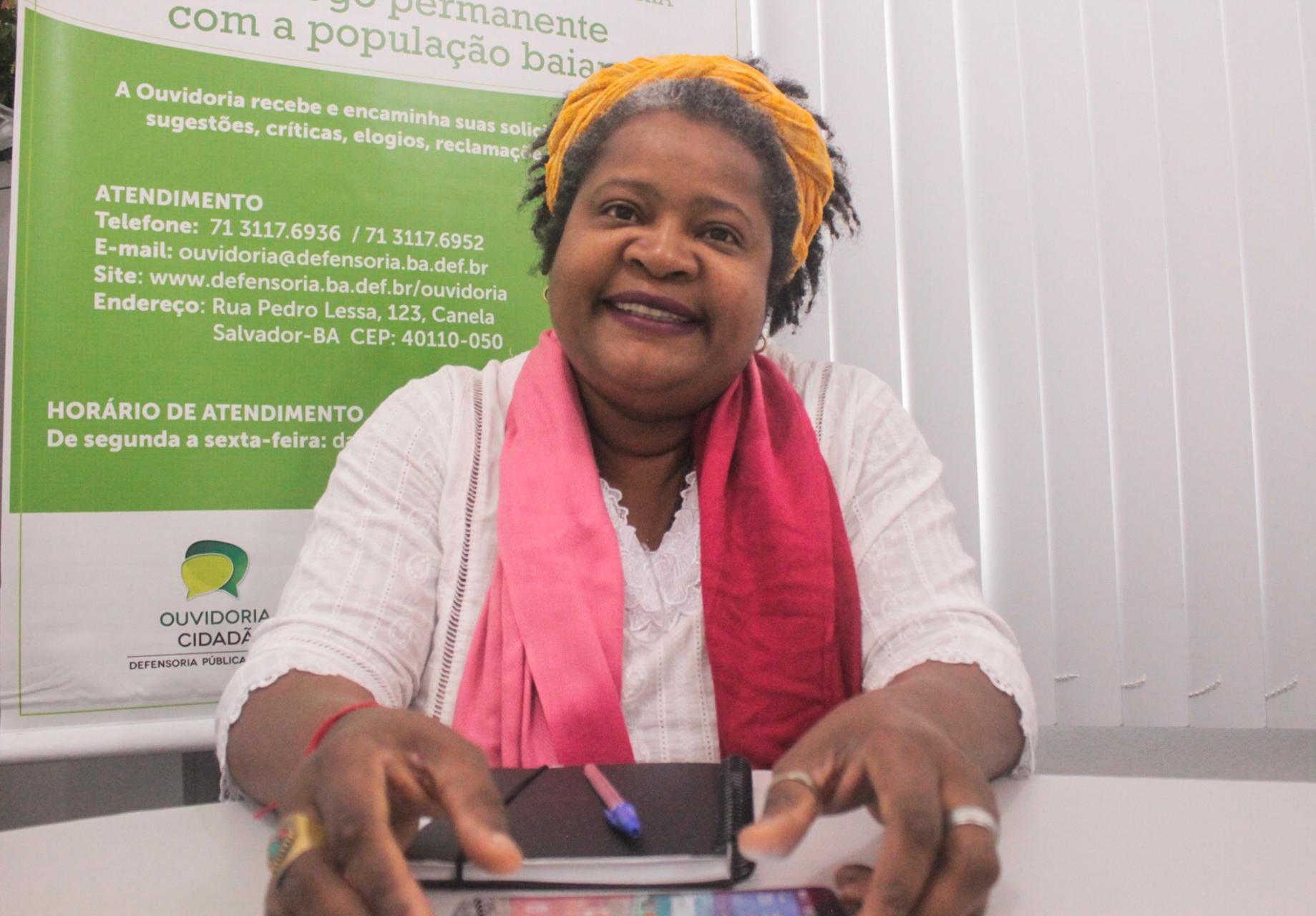 """"""" Investir no trabalho de base, investir na libertação do pensamento, fazer com que cada vez mais o nosso povo tenha acesso a outros conteúdos"""". Foto: Jamile Araújo/ Brasil de Fato BA"""