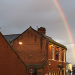 Rainbow over Preston pub