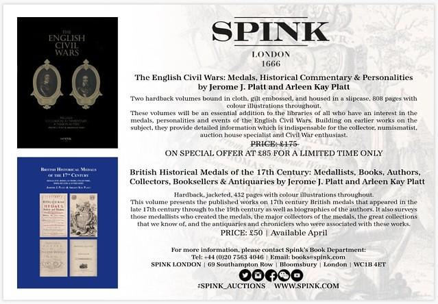 Spink E-Sylum ad 2017-07-30