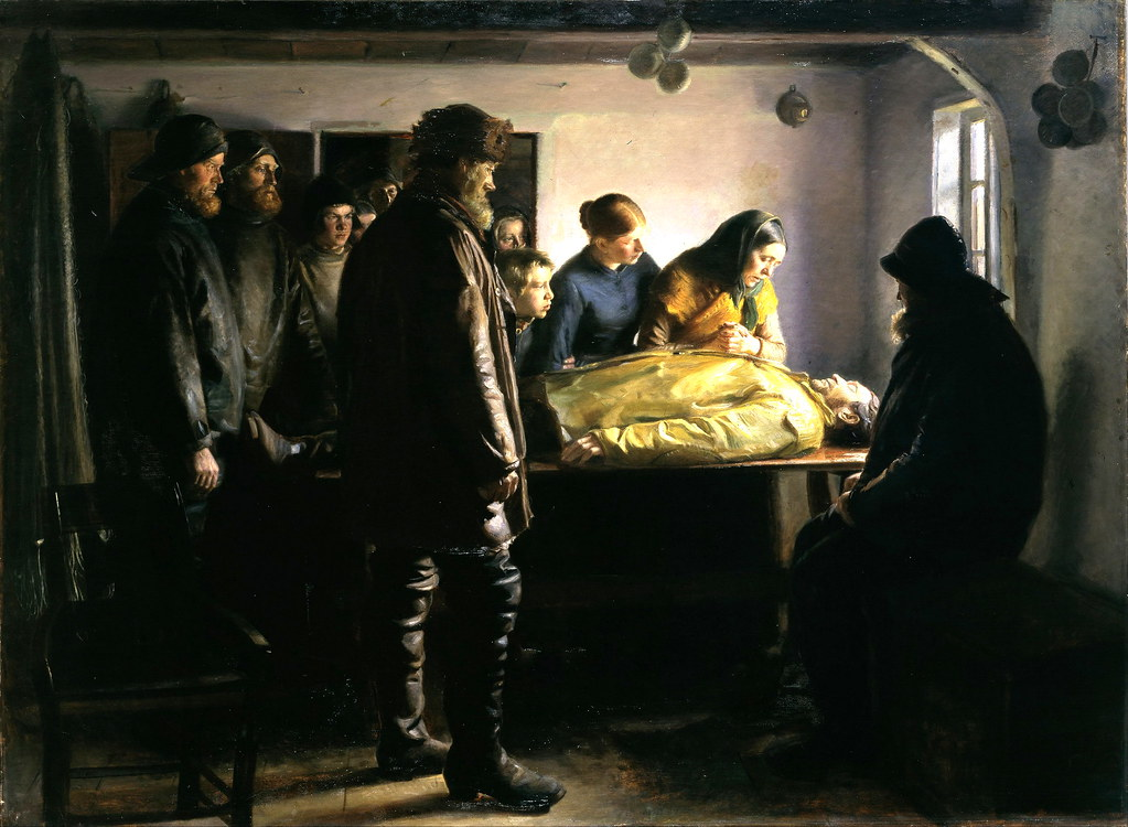 The Drowned Fisherman by Michael Peter Ancher, 1896