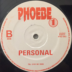 PHOEBE ONE:TO ALL THE HIP HOP HEADS(LABEL SIDE-B)