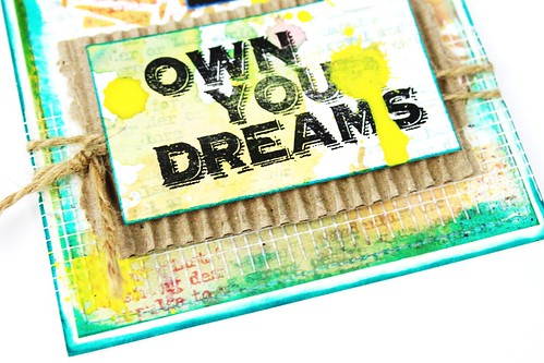 Meihsia Liu Simply Paper Crafts Mixed Media Sewing Edges Dream Simon Says Stamp Monday Challenge Tim Holtz 5