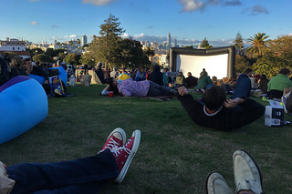 Film Night in the Park - Dolores Park Austin Powers movie space