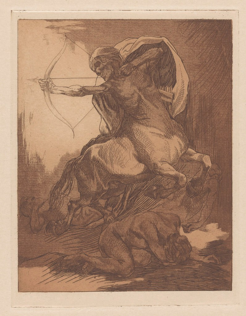 Johannes Josephus Aarts - Death as a  centaur with arrow and bow