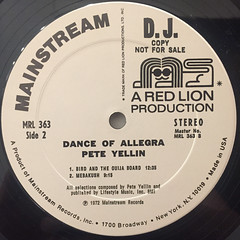 PETE YELLIN:DANCE OF ALLEGRA(LABEL SIDE-B)