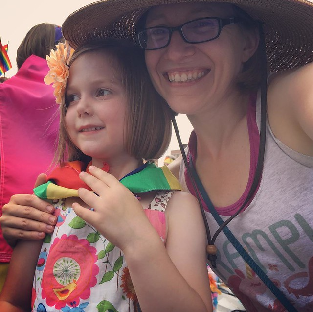 Me and my favorite kiddo at the Pride parade