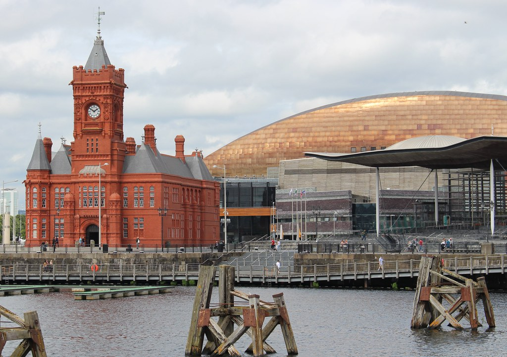 Cardiff Bay: Pierhead building and Millennium Centre